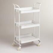 White Austin 3-Tier Metal Cart