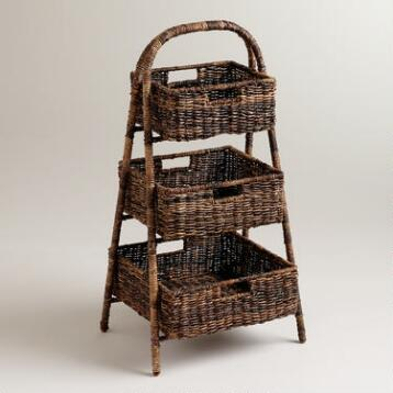 Marisa Madras 3-Basket Tray Stand