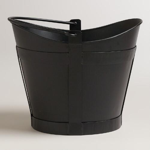 Black Declan Scoop Log Bucket
