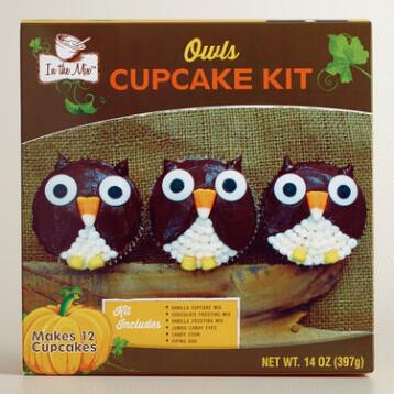 In the Mix Owl Cupcake Mix, Set of 2