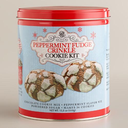 Peppermint Fudge Cookie Kit Tin