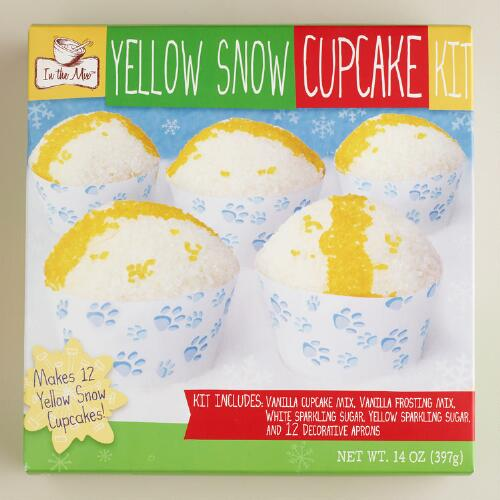 In the Mix Yellow Snow Cupcake Kit, Set of 2