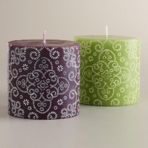 Small Maison Pillar Candles, Set of 2