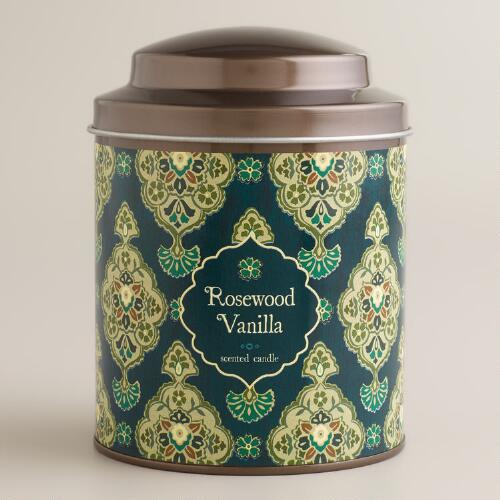 Rosewood Vanilla Inverness Candle Tin