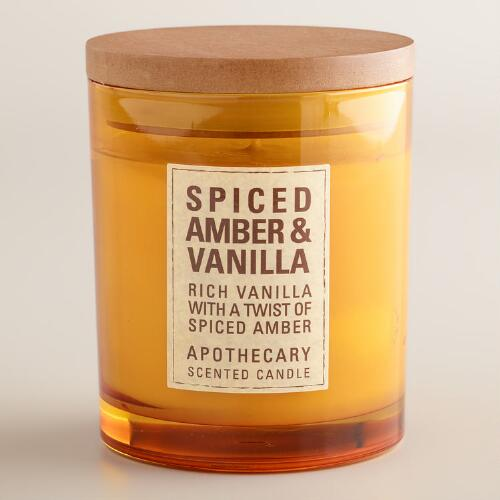 Amber and Vanilla Apothecary Candle