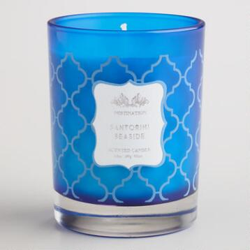 Santorini Seaside Destinations Candle