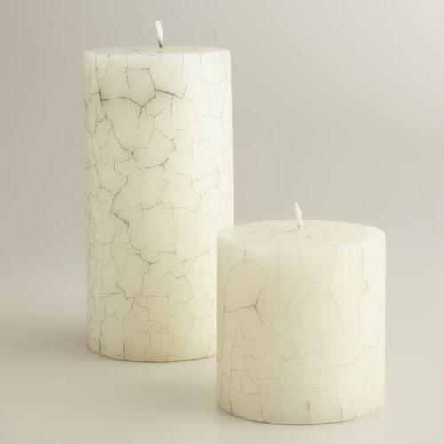 Crackle Pillar Candles
