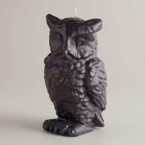 Black Owl Candle