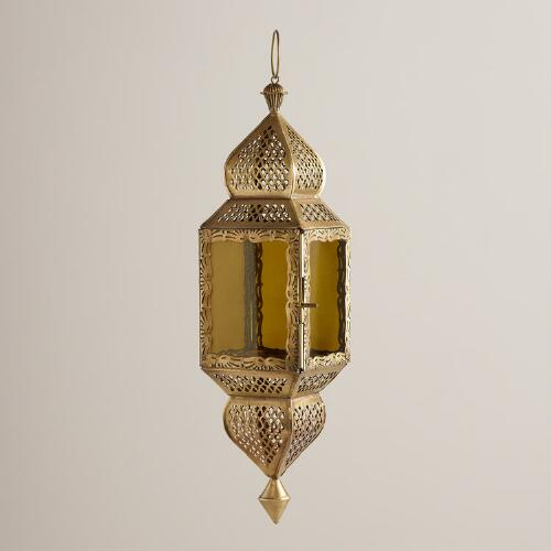 Medium Green Kamali Hanging Lantern