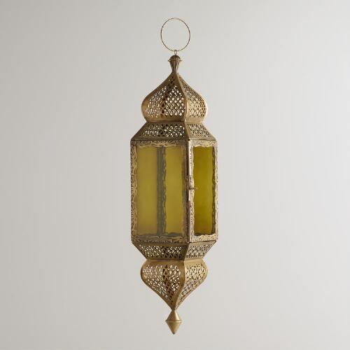 Large Green Kamali Hanging Lantern