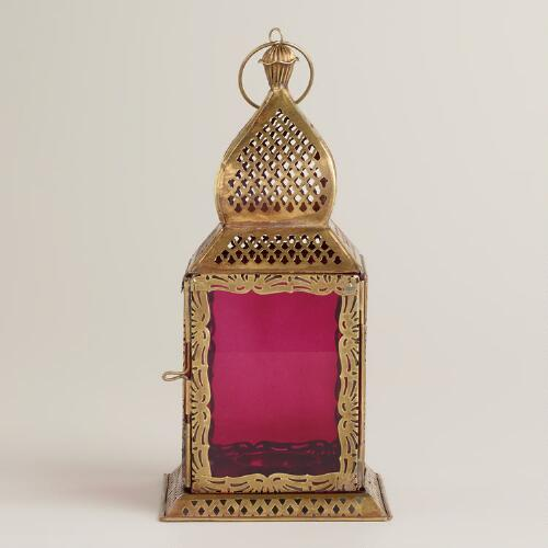 Small Purple Kamali Tabletop Lantern