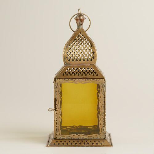 Small Green Kamali Tabletop Lantern