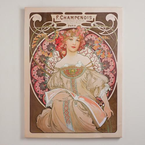 """Reverie"" by Alphonse Mucha"