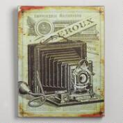 Vintage-Style Camera Wood Print