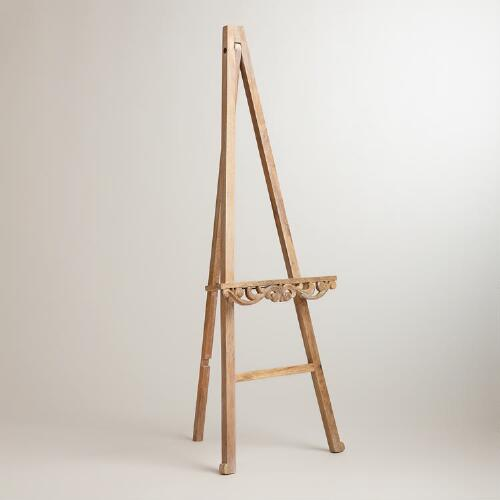 Carved Wood Easel