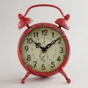 Red Vintage-Style Magnet Clock