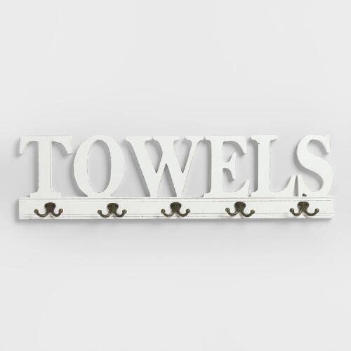 "5-Hook ""Towels"" Wall Rack"