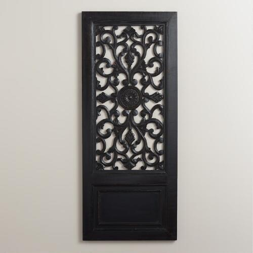 Black Medallion Wall Panel