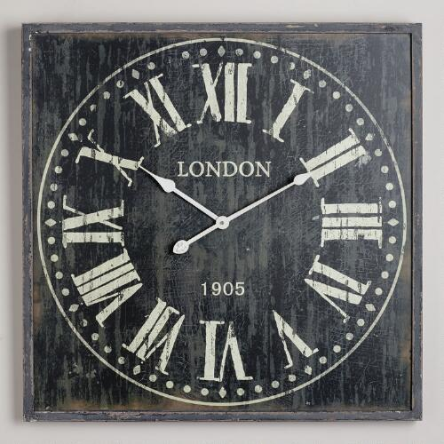 Black Bailey Wall Clock