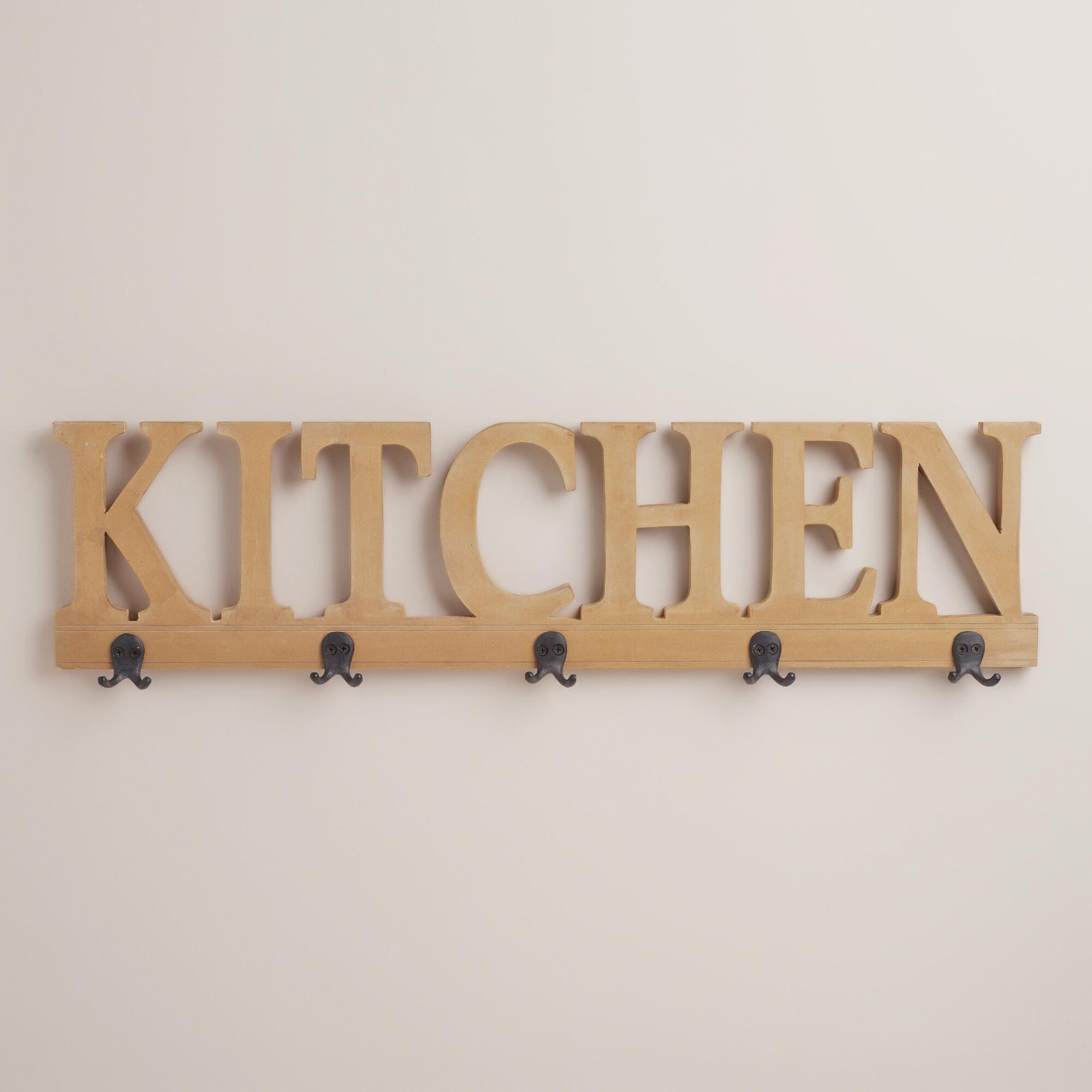 5 hook kitchen wall rack world market Hooks for the wall