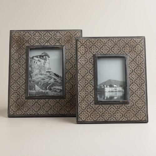 Black and Gray Avril Medallion Frames