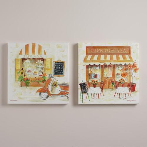 """Autumn in Tuscany"" by Katherine White, Set of 2"