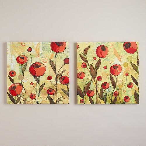 """Big Tulips"" I and II by Gia Whitlock, Set of 2"
