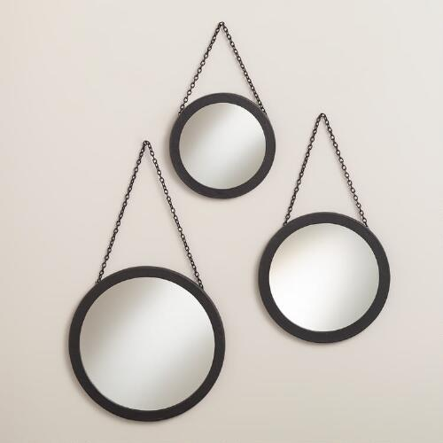 Round Carson Metal Wall Mirrors