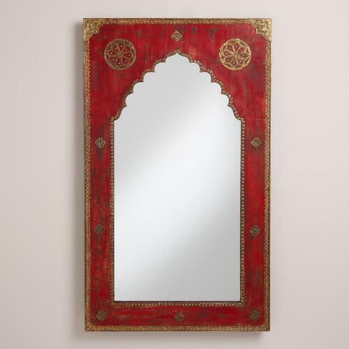 Red Mehrab Mirror