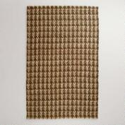 5' x 8' Natural Chocolate Jute Herringbone Rug