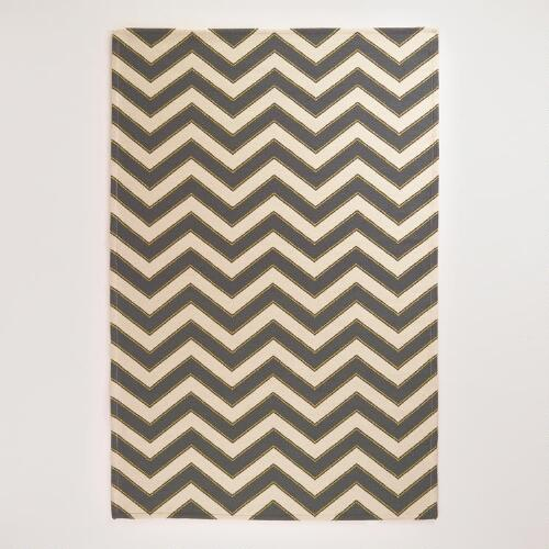 Urban Ivory Chevron Indoor-Outdoor Rug