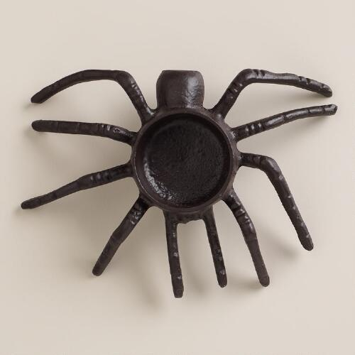 Black Metal Spider Tealight Candleholder