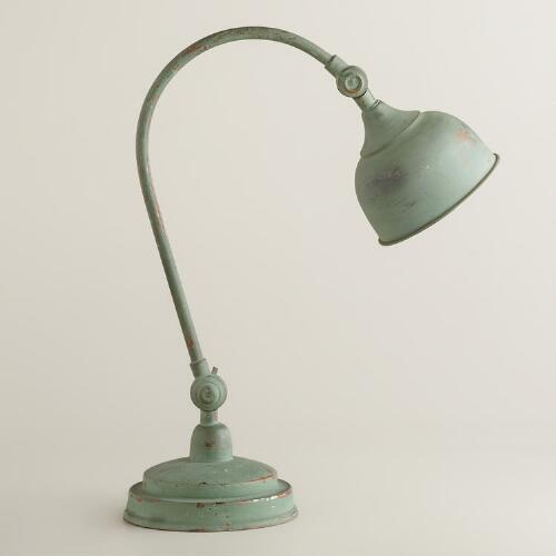 Oxidized Iron Task Lamp