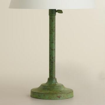 Oxidized Copper Accent Lamp Base