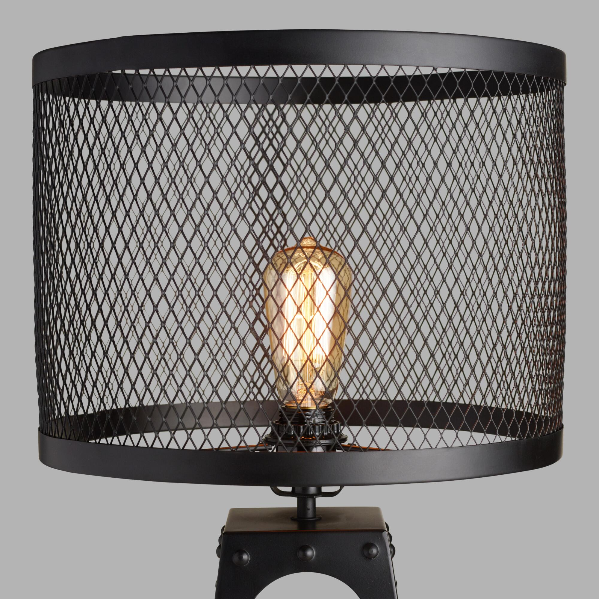 riveted table lamp shade world market. Black Bedroom Furniture Sets. Home Design Ideas