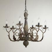 Aged Black Crystal Chandelier