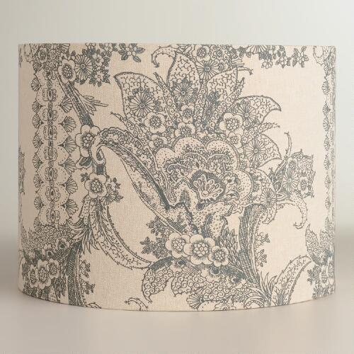 Chinois Paisley Drum Table Lamp Shade