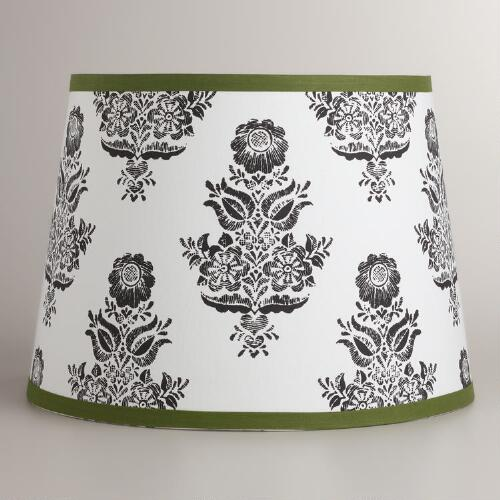 Green Trim Table Lamp Shade