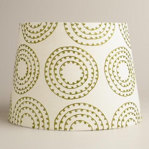 Embroidered Geo Table Lamp Shade