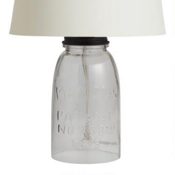 Mason Jar Accent Lamp Base