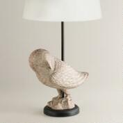 Snow Owl Table Lamp Base