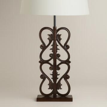 French Gate Table Lamp Base