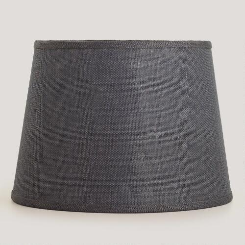 Gray Burlap Table Lamp Shade