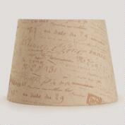 Parisian Script Table Lamp Shade