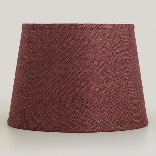 Huckleberry Burlap Accent Lamp Shade