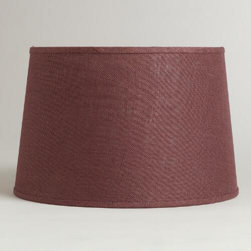 Huckleberry Burlap Floor Lamp Shade
