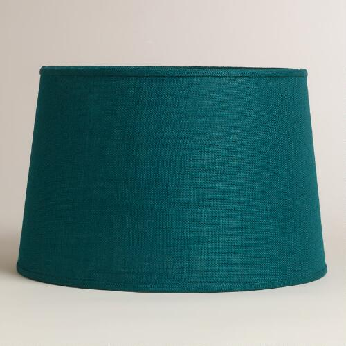 Teal Burlap Floor Lamp Shade