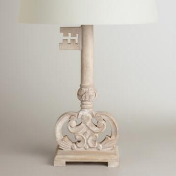 Wood Key Table Lamp Base