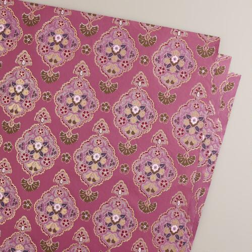 Pink Inverness Handmade Giftwrap Sheets