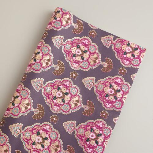 Purple Inverness Handmade Giftwrap Roll